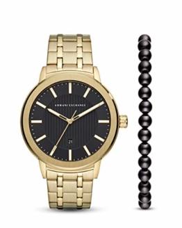 Armani Exchange Herren Analog Quarz Uhr mit Edelstahl Armband AX7108 - 1