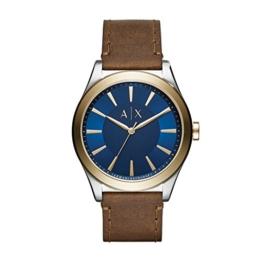 Armani Exchange Herren Analog Quarz Uhr mit Leder Armband AX2334 - 1