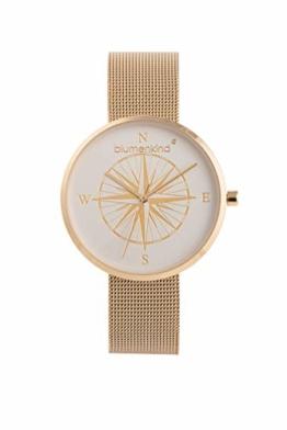 Blumenkind Damen Uhr Kompass Gold -die Maritime Uhr zum (Dur) Schmuck BKU2GOSS - 1