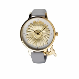Blumenkind Damenuhr Gold/Kaschmirgrau 04091981GWHPGR - 1