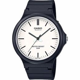 CASIO Unisex Erwachsene Analog Quarz Uhr mit Harz Armband MW-240-7EVEF - 1