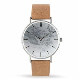 Elie Beaumont Herren Analog Japanisch Quarz Uhr mit Kunstleder Armband MB1805.1 - 1