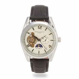 Elie Beaumont Herren Analog Japanisch Quarz Uhr mit Kunstleder Armband MB1806.1 - 1