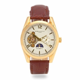 Elie Beaumont Herren Analog Japanisch Quarz Uhr mit Kunstleder Armband MB1806.2 - 1