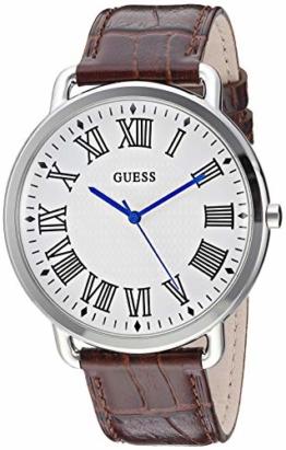 Guess Herren-Armbanduhr, Quarz, Edelstahl und Leder, Farbe: Braun (Modell: U1164G1) - 1