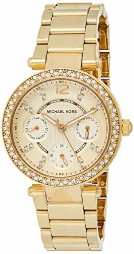 Michael Kors Damen Analog Quarz Uhr mit Edelstahl Armband MK6056 - 1