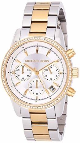 Michael Kors Damen Analog Quarz Uhr mit Edelstahl Armband MK6474 - 1