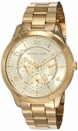 Michael Kors Damen Analog Quarz Uhr mit Edelstahl Armband MK6588 - 1