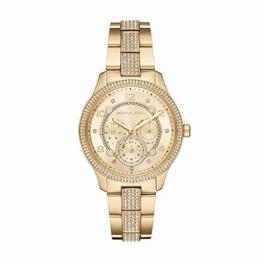 Michael Kors Damen Analog Quarz Uhr mit Edelstahl Armband MK6613 - 1