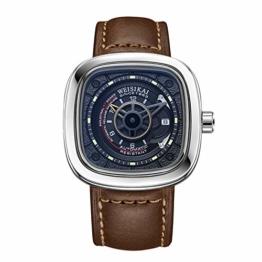 RORIOS Herren Sport Uhren Automatische Mechanische Uhr Leuchtend Zifferblatt mit Datum Kalender Leder Armband Mode Männer Armbanduhren - 1