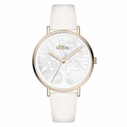 s.Oliver Damen Analog Quarz Uhr mit Kunstleder Armband SO-3870-LQ - 1