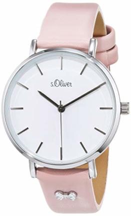 s.Oliver Damen Analog Quarz Uhr mit Leder Armband SO-3748-LQ - 1