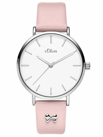 s.Oliver Damen Analog Quarz Uhr mit Leder Armband SO-3748-LQ - 2
