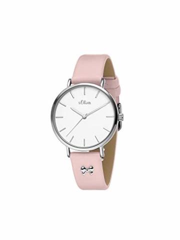 s.Oliver Damen Analog Quarz Uhr mit Leder Armband SO-3748-LQ - 3