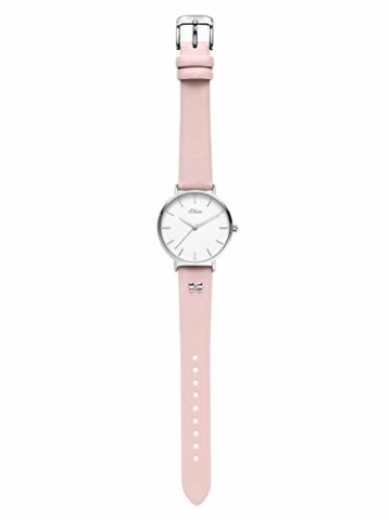 s.Oliver Damen Analog Quarz Uhr mit Leder Armband SO-3748-LQ - 6