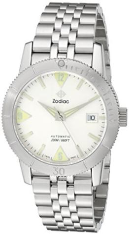 Zodiac Herren zo9200Heritage Analog Display Swiss Mechanische automatische Silber Armbanduhr - 1