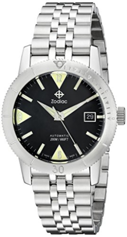 Zodiac ZO9201 Heritage Herren-Armbanduhr, analoges Display, Schweizer mechanische Automatik, Edelstahl - 1