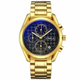 Armbanduhren Chronograph Sportuhr Golden - 1