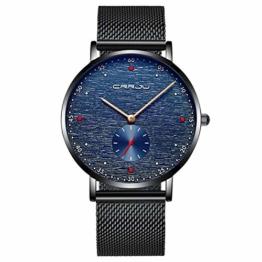 Armbanduhren Herrenuhr Lässige Persönlichkeit Mode wasserdichte Uhr Schwarz - 1