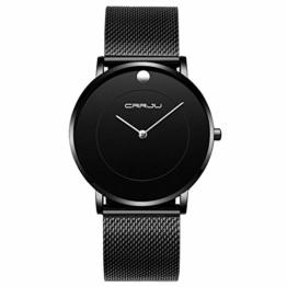Armbanduhren Herrenuhr Mode Ultradünne Einfache Uhr Schwarz - 1
