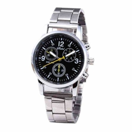 DECTN Armbanduhr Heißer UhrHerrenmode neutral Stahl Uhren Business, schwarz - 1