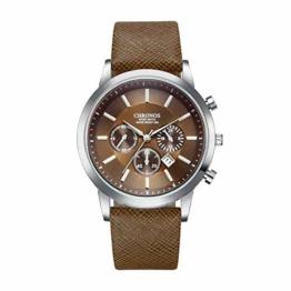 DECTN Armbanduhr Herrenarmbanduhren Herrenuhr Herrenuhr Herrenmode Sportuhr Uhr Erkek Kol i, Braun - 1
