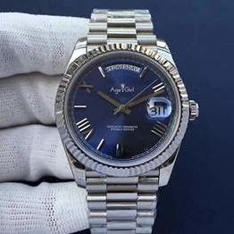 DFGHU Herrenuhr Gold Silber Automatik Mechanische Uhr Edelstahluhr Saphirglas Modeuhr 41Mm Persönliche Geschäftsuhr - 1