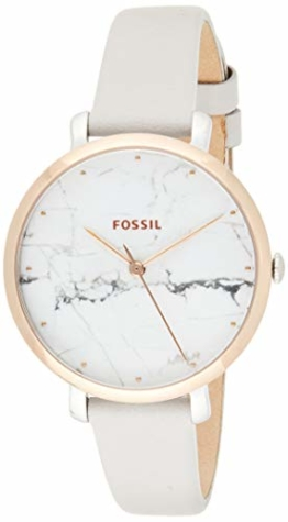 Fossil Damen Analog Quarz Smart Watch Armbanduhr mit Leder Armband ES4377 - 1