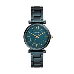 Fossil Damen Analog Quarz Uhr mit Edelstahl Armband ES4427 - 1