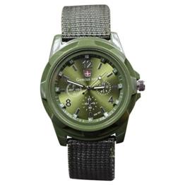 Kirmax Neue Art und Weise, die Militaeruhren Armee Uhr Land, See und Luftwaffen Sport Uhr strickt, Gruen - 1