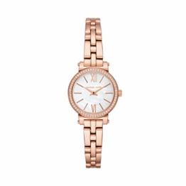 Michael Kors Damen Analog Quarz Uhr mit Edelstahl Armband MK3834 - 1