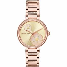 Michael Kors Damen Analog Quarz Uhr mit Edelstahl Armband MK3836 - 1