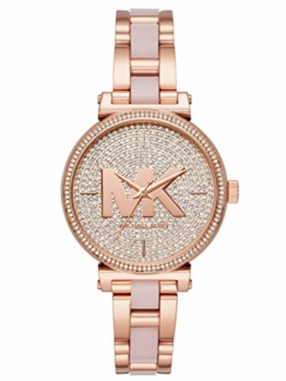 Michael Kors Damen Analog Quarz Uhr mit Edelstahl Armband MK4336 - 1