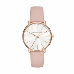 Michael Kors Damen Analog Quarz Uhr mit Leder Armband MK2741 - 1