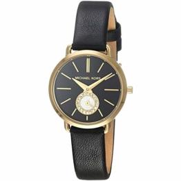 Michael Kors Damen Analog Quarz Uhr mit Leder Armband MK2750 - 1
