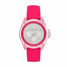Michael Kors Damen Analog Quarz Uhr mit Silikon Armband MK6677 - 1