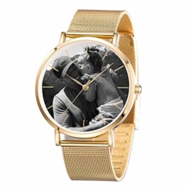Personalisierte benutzerdefinierte Edelstahl-Armbanduhr , DIY benutzerdefinierte Foto personalisierte Uhr, Business modische einfache Quarzuhr, Vatertag , Jahrestag, Geburtstag - 1