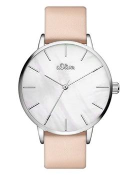 s.Oliver Damen Analog Quarz Armbanduhr mit PU Armband SO-3547-LQ - 1