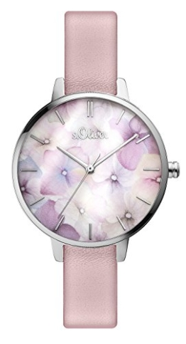 s.Oliver Damen Analog Quarz Armbanduhr SO-3521-LQ - 1