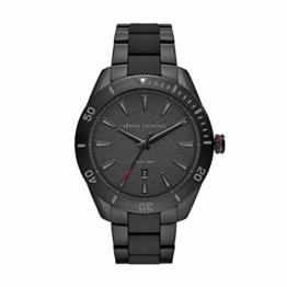 Armani Exchange Herren Analog Quarz Uhr mit Edelstahl Armband AX1826 - 1