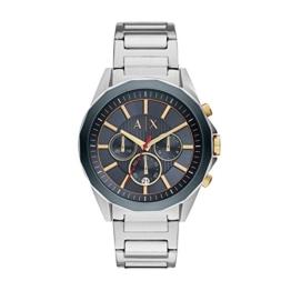 Armani Exchange Herren Analog Quarz Uhr mit Edelstahl Armband AX2614 - 1
