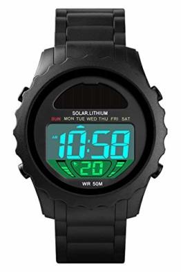 Armbanduhr Männer Digitaluhr Outdoor Laufen Sportuhr Herren Uhr Militär Chronograph Datum Uhren Cool Modern Mann LED Wecker Stoppuhr 5 ATM Wasserdicht - 1