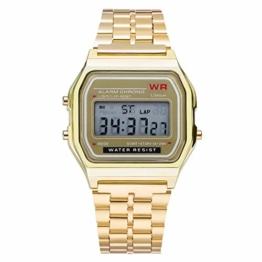 Armbanduhren Herren Uhr Unisex Erwachsene Digital Quarz (Golden) - 1