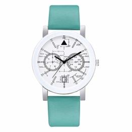 Beobachten Zwei-Augen-Quarzarmband Mit Fünf Stiften, Digitale Armbanduhr Für Studenten-Mintgrün - 1