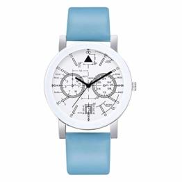Beobachten Zwei-Augen-Quarzarmband Mit Fünf Stiften, Digitale Armbanduhr Für Studenten-Himmelblau - 1