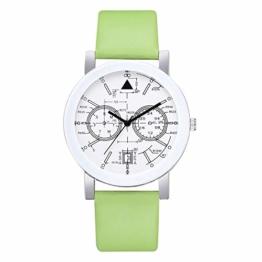 Beobachten Zwei-Augen-Quarzarmband Mit Fünf Stiften, Digitale Armbanduhr Für Studenten-Grün - 1