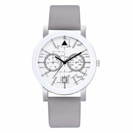 Beobachten Zwei-Augen-Quarzarmband Mit Fünf Stiften, Digitale Armbanduhr Für Studenten-Grau - 1