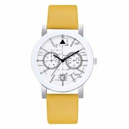 Beobachten Zwei-Augen-Quarzarmband Mit Fünf Stiften, Digitale Armbanduhr Für Studenten-Gelb - 1