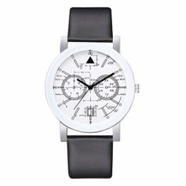 Beobachten Zwei-Augen-Quarzarmband Mit Fünf Stiften, Digitale Armbanduhr Für Studenten-Schwarz - 1