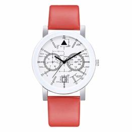 Beobachten Zwei-Augen-Quarzarmband Mit Fünf Stiften, Digitale Armbanduhr Für Studenten-Rot - 1